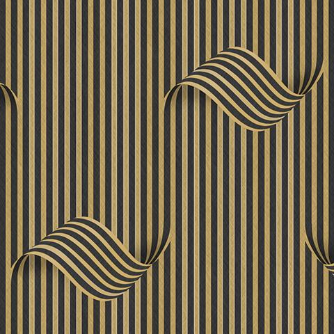 کاغذ دیواری سه بعدی قهوه ای طلایی image