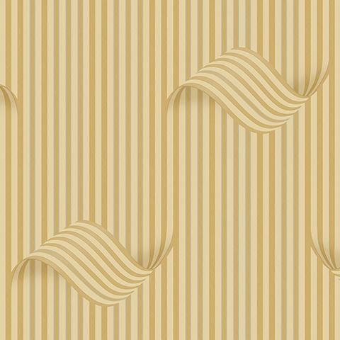 کاغذ دیواری سه بعدی رنگ طلایی image