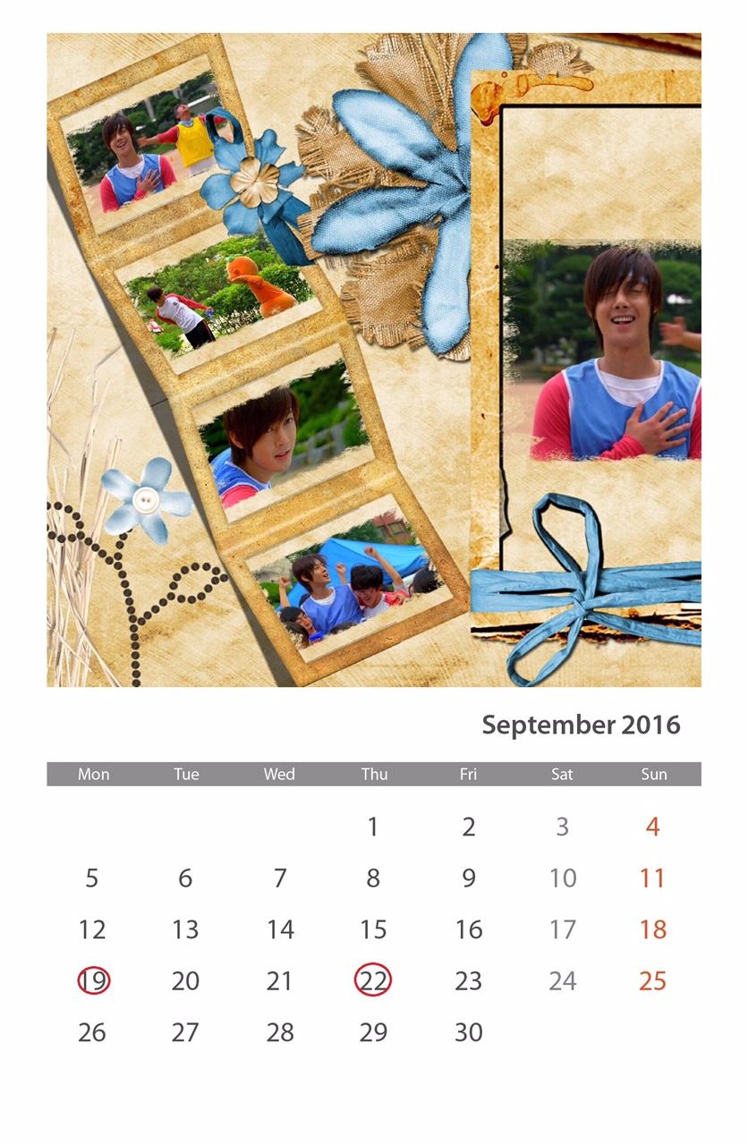 Calendar of September 2016
