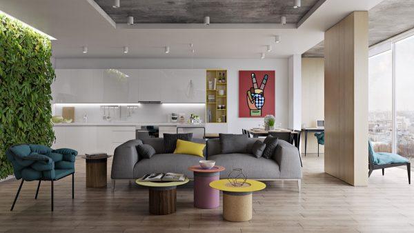 30 طرح زیبا برای اتاق نشیمن
