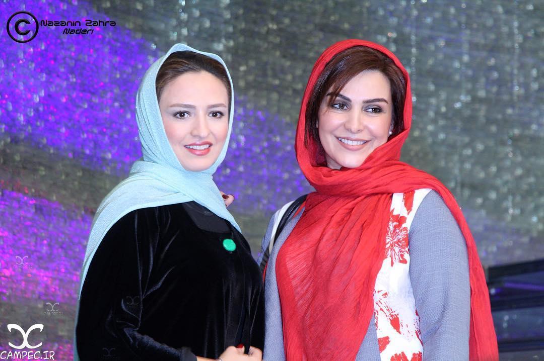 ماه چهره خلیلی و گلاره عباسی در اکران فیلم هیهات