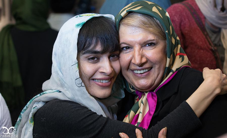 شهین تسلیمی و اندیشه فولادوند در اکران فیلم هیهات