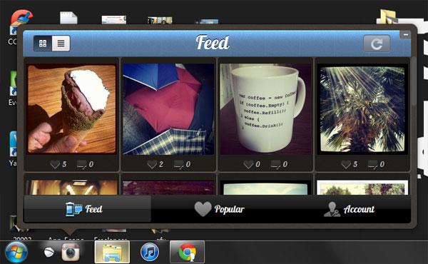 دانلود اینستاگرام برای کامپیوتر  instagram windows 7 8 10 xp