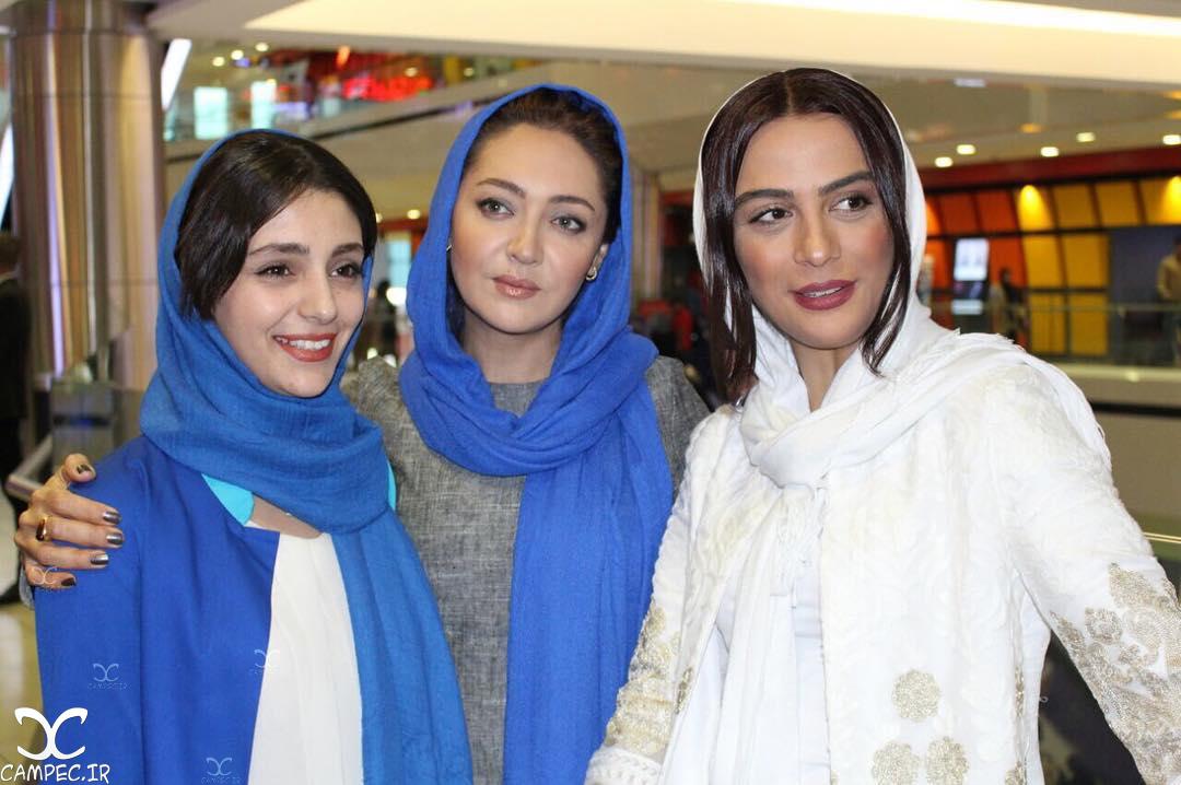 بازیگران در اکران فیلم ربوده شده