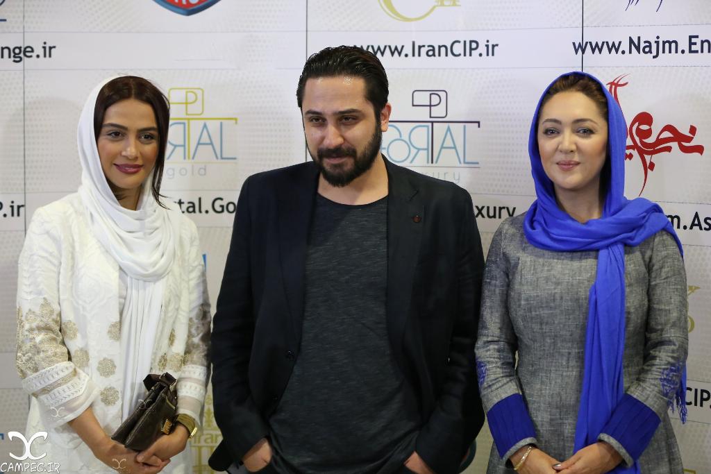 نیکی کریمی و مارال فرجاد در اکران فیلم ربوده شده