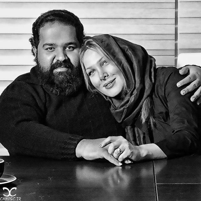 رضا صادقی با همسرش