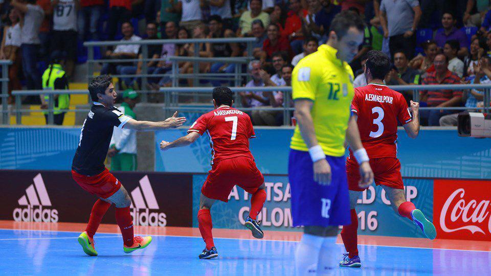 نتیجه بازی فوتسال ایران و برزیل 1 مهر 95 جام جهانی | فیلم خلاصه و گلها