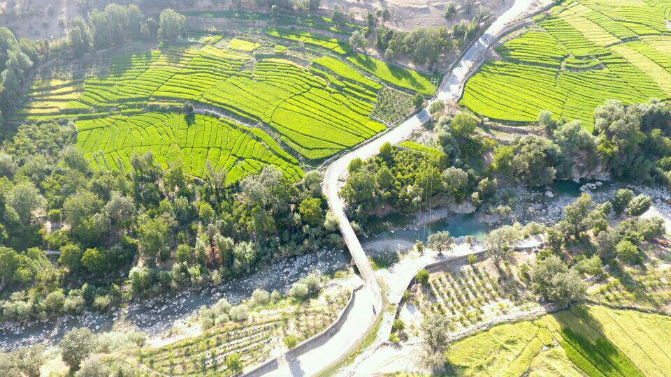 عکس هوایی روستاهای جوزار بکش و جوزار جاوید
