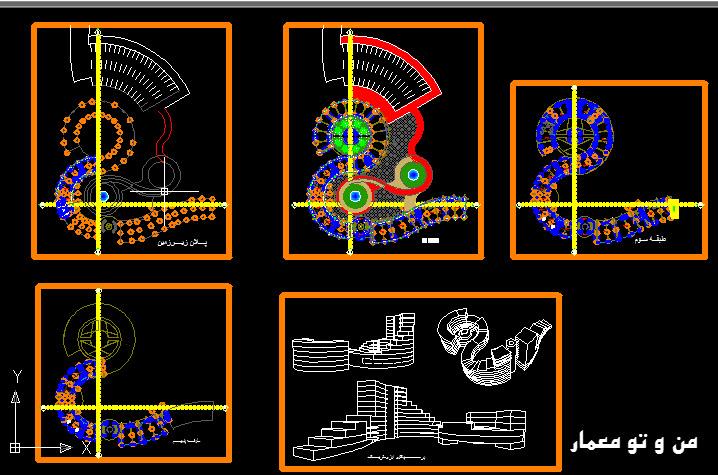 دانلود رایگان طرح معماری مجتمع تجاری