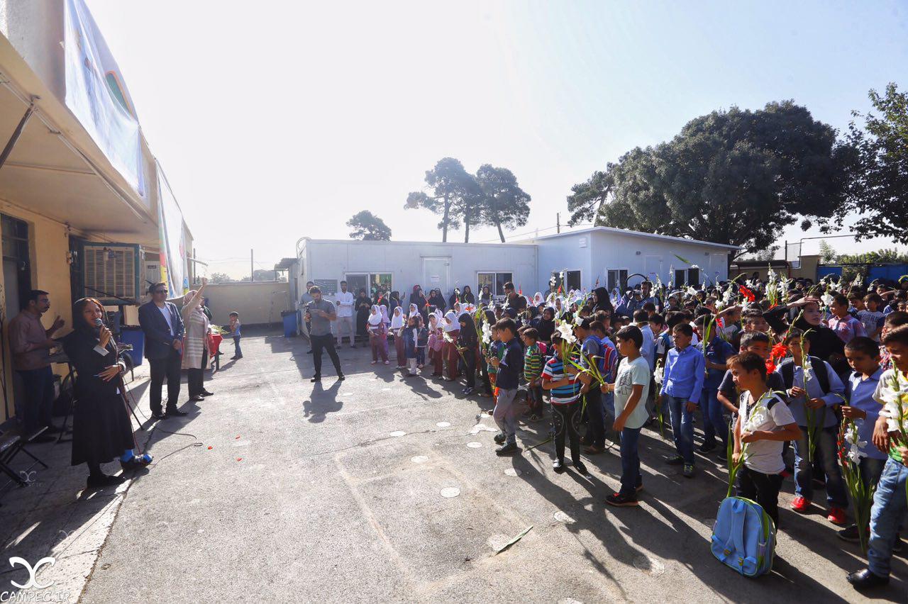 مهناز افشار در اولین روز بازگشایی مدارس