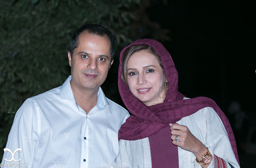 شبنم قلی خانی و همسرش در جشن سالانه آکادمی سمندریان