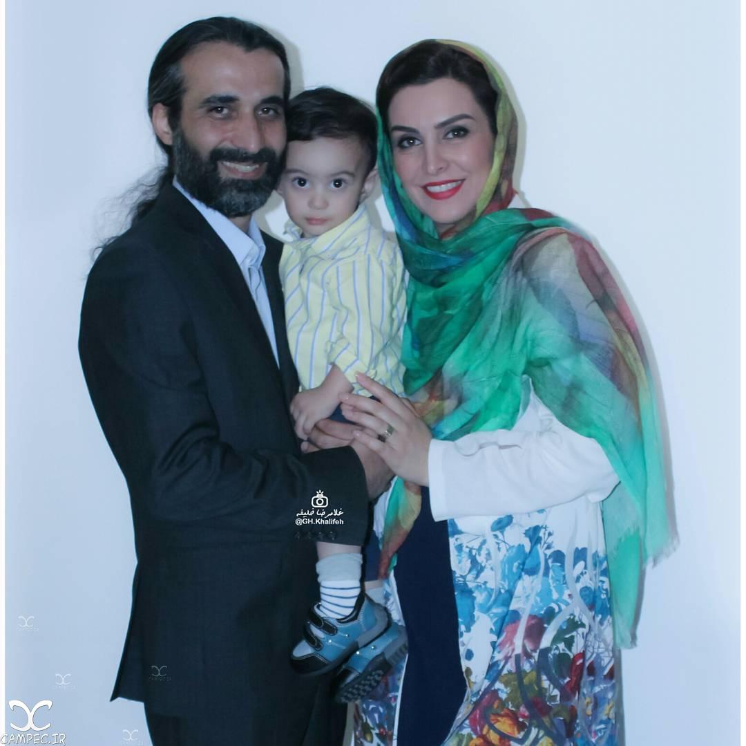 ماه چهره خلیلی و همسر و پسرش