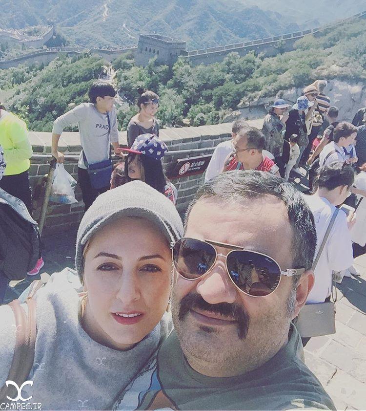 شقایق دهقان و همسرش محراب قاسم خانی در چین