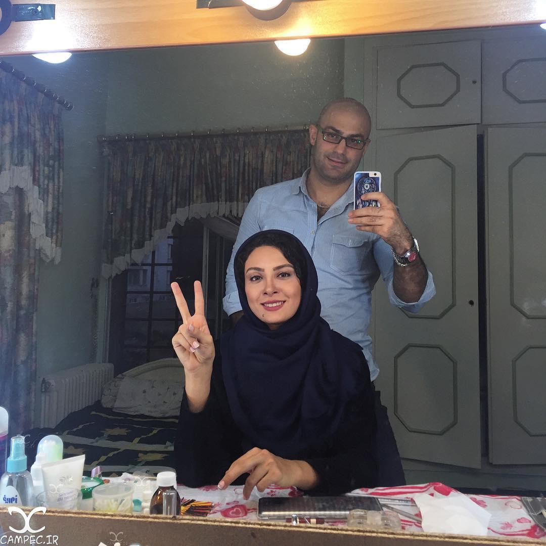 حدیثه تهرانی در پشت صحنه فیلم دختران سکوت