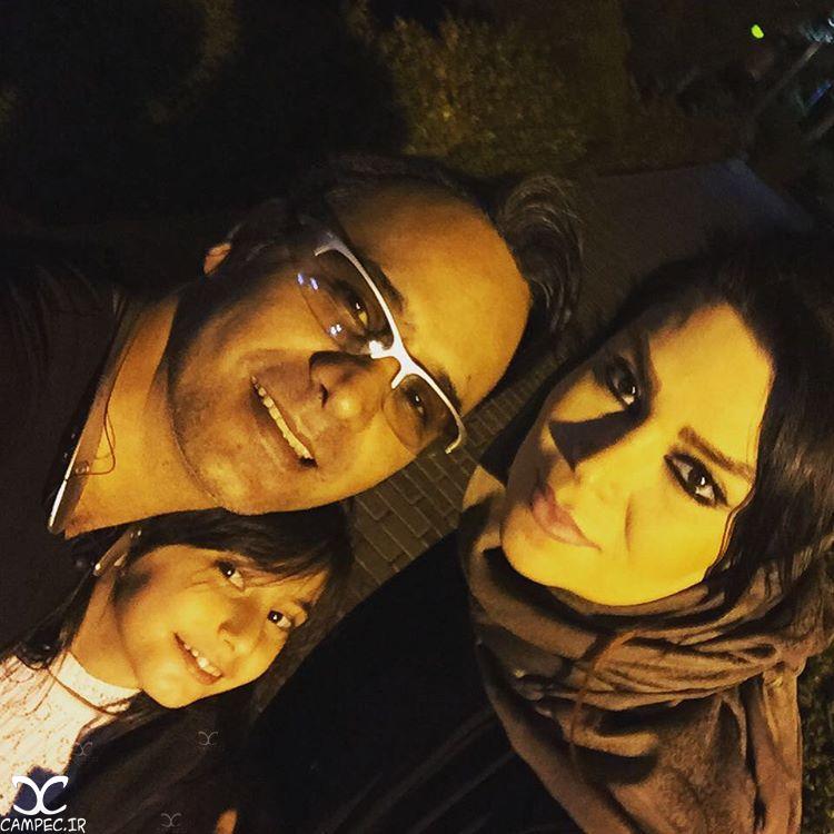شهرا شکوهی و همسر و دخترش