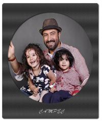 بیوگرافی مجید صالحی با دوقلوها و همسرش