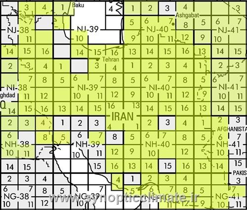 دانلود رایگان نقشه توپوگرافی با مقیاس 1/250000 نواحی ایران
