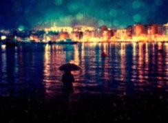 عکس تنهایی با چتر