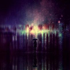 عکس تنهایی زیر بارون
