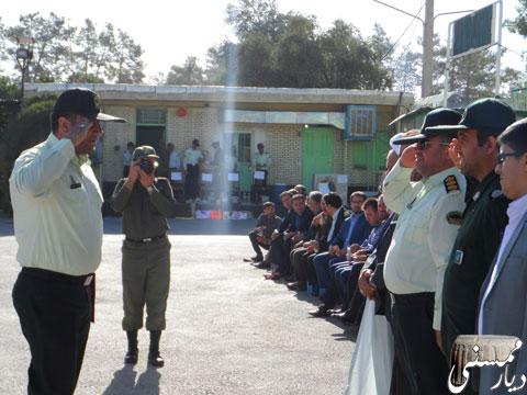 صبحگاه مشترک نیروی انتظامی درممسنی