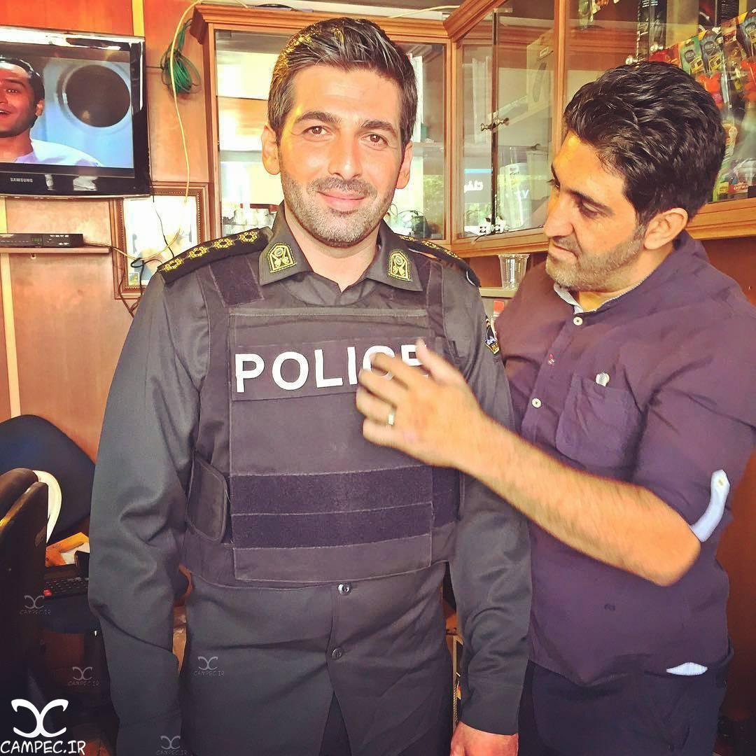 حمید گودرزی در پشت صحنه سریال گشت ویژه