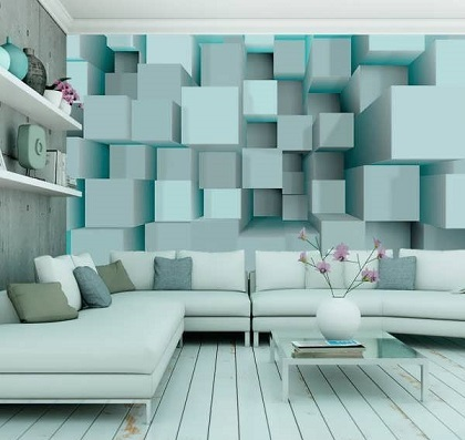 پارکت لمینت و کاغذ دیواری و مبلمان- سبک مدرن