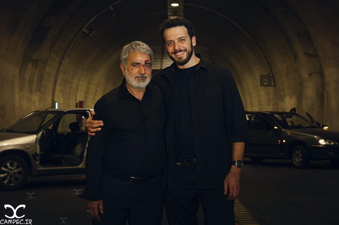 پدرام شریفی در پشت صحنه فیلم بادیگارد