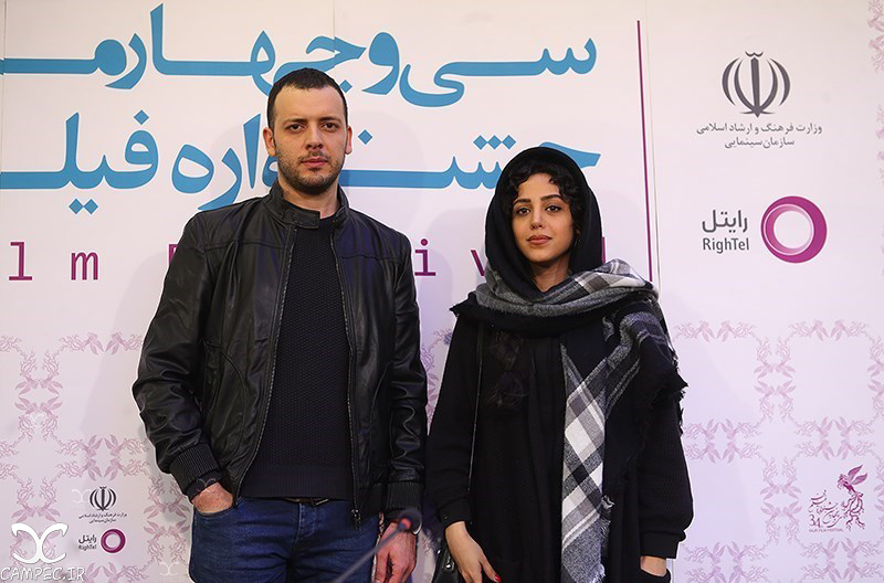 پدرام شریفی و هنگامه حمیدزاده در جشنواره فیلم فجر
