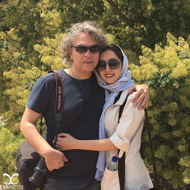مهدی احمدی با همسرش پرستو رجایی