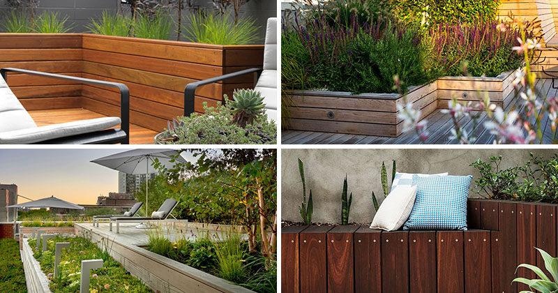 ایده هایی برای باغچه و فلاور باکس چوبی