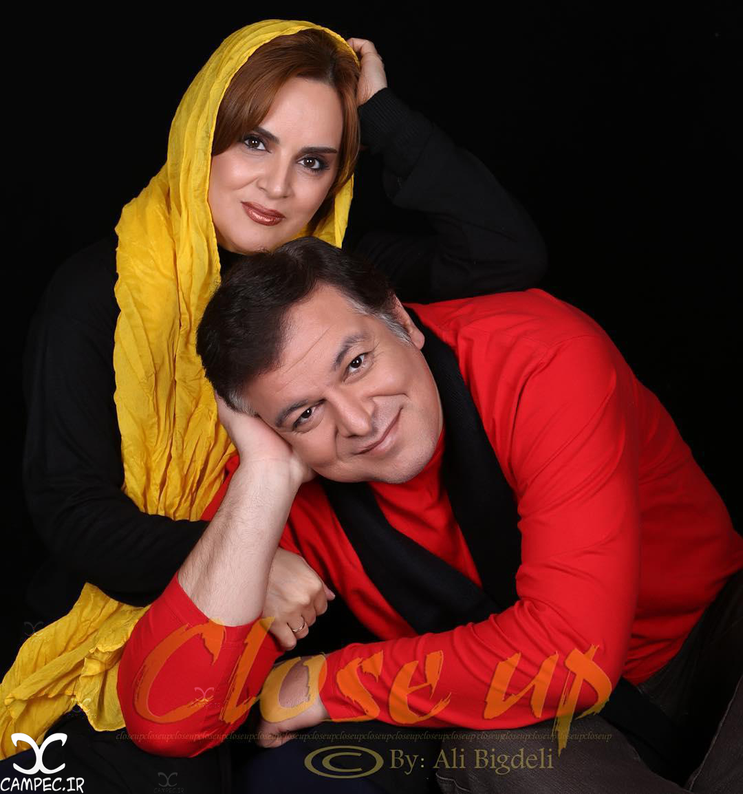شهناز شهبازی و همسرش شاهین باباپور