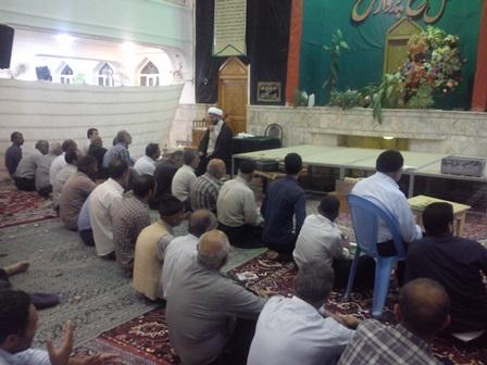 سخنرانی و اقامه نماز در مسجد بلال قهدریجان
