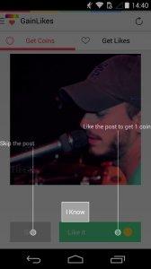 دانلود برنامه کمکی GainLikes for Instagram اینستاگرام