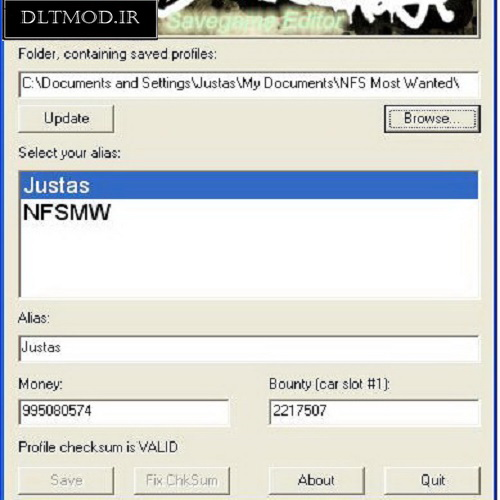دانلود نرم افزار ادیت سیو بازی ماست وانتد 2005