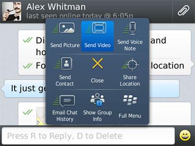 دانلود برنامه پیام رسان واتس آپ بلک بری - Whatsapp