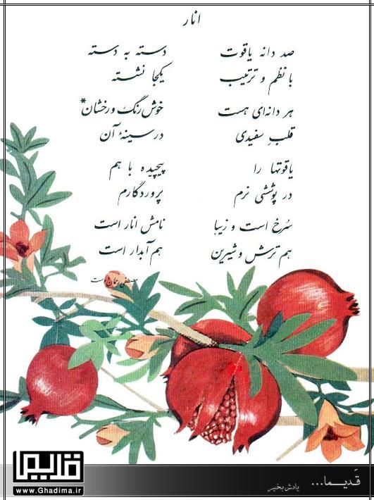 درس های فارسی دبستان