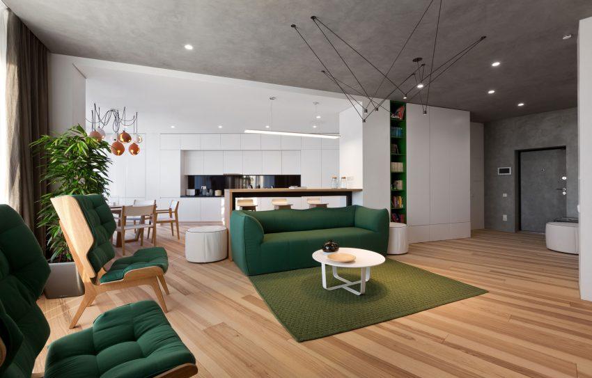 طراحی و رنگ بندی زیبا آپارتمان1