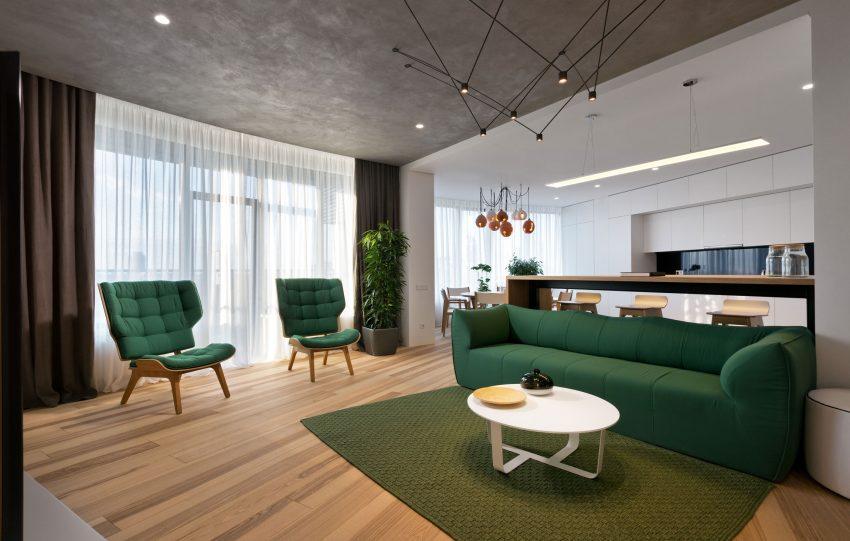 طراحی و رنگ بندی زیبا آپارتمان5