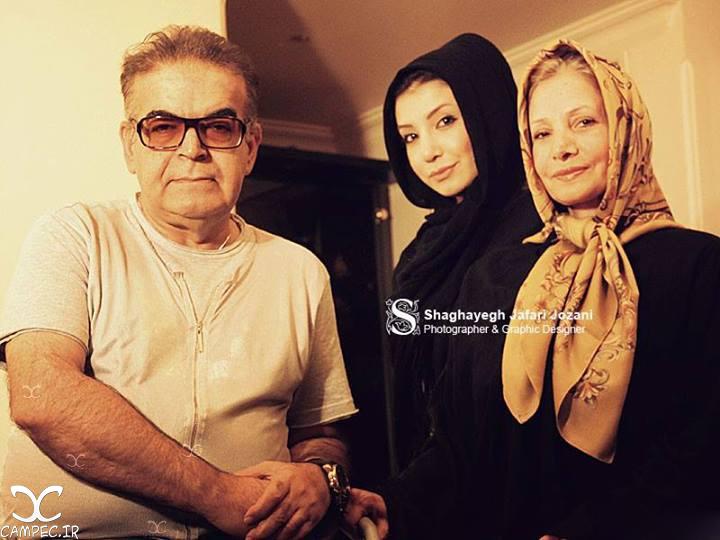 حمید لولایی با همسر و دخترش