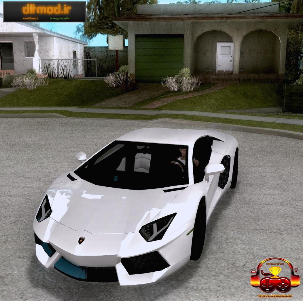 دانلود ماشین Lamborghini Aventador برای Gta San
