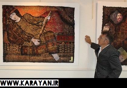 برپایی نمایشگاه آثار تلفیقی هنرهای تجسمی و قالی ایرانی در تبریز