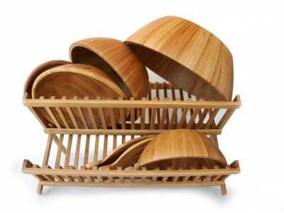 تمیز کردن ظرف های چوبی