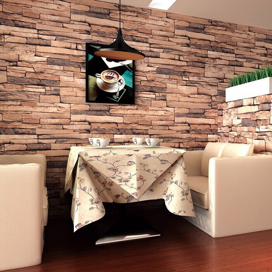 کاغذ دیواری در رستوران لاکجری  image