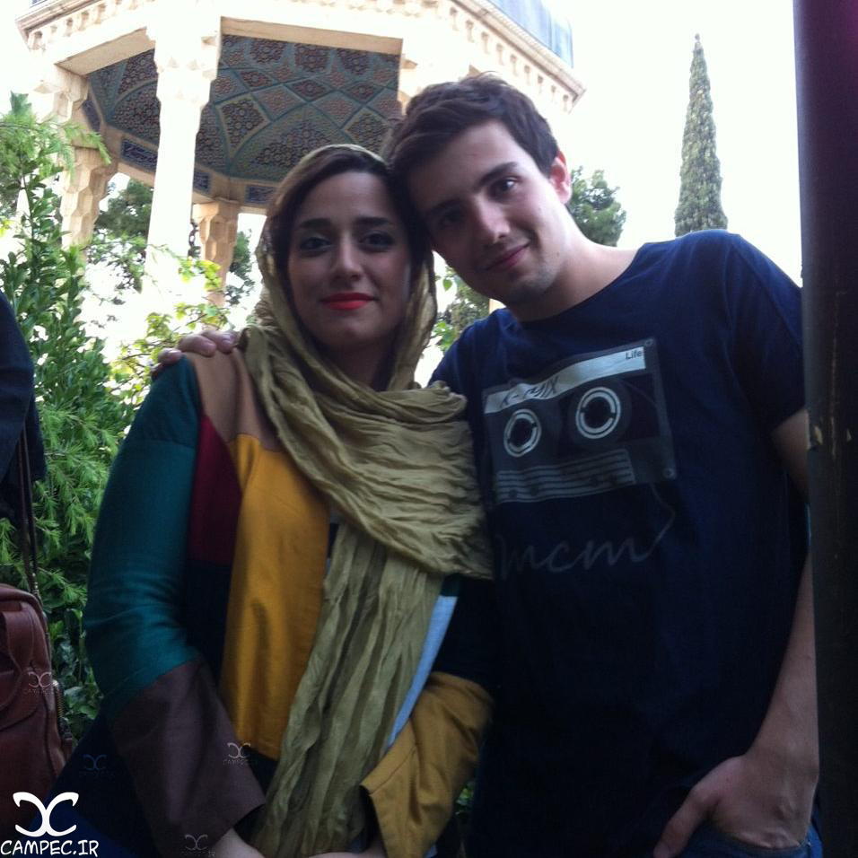 امیر کاظمی و همسرش مهتاب محسنی