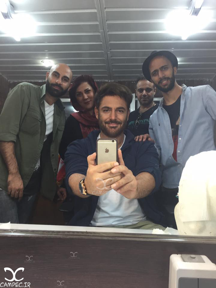 محمدرضا گلزار در پشت صحنه سریال عاشقانه