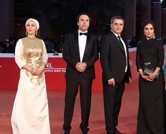 بازیگران و عوامل فیلم جاودانگی در جشنواره فیلم رم