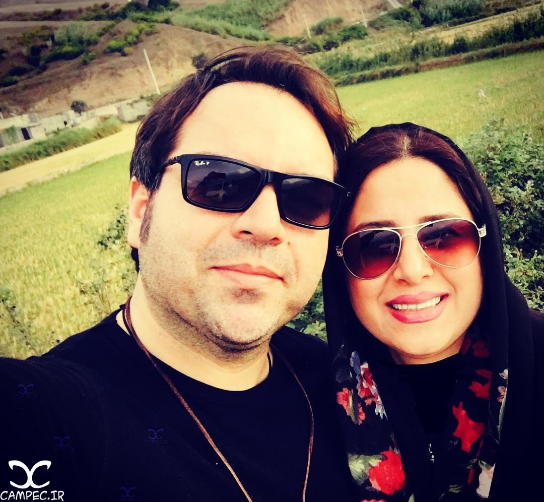 عکس سلفی شهرام قائدی با همسرش