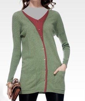 مدل لباس بافتنی دخترانه بنفش سبز قهوه ای