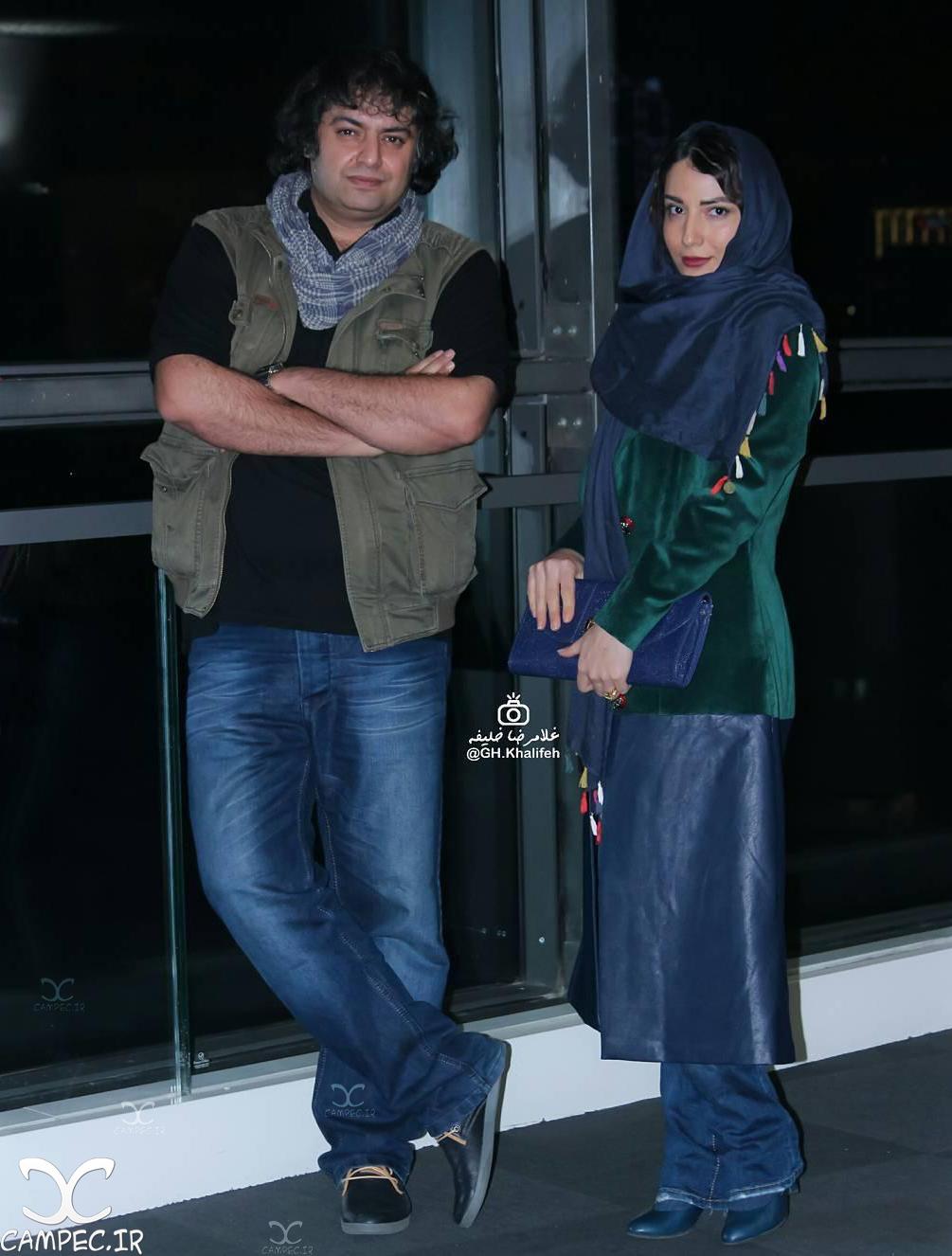 سمیرا حسن پور و همسرش در اکران خصوصی فیلم متولد ٦٥