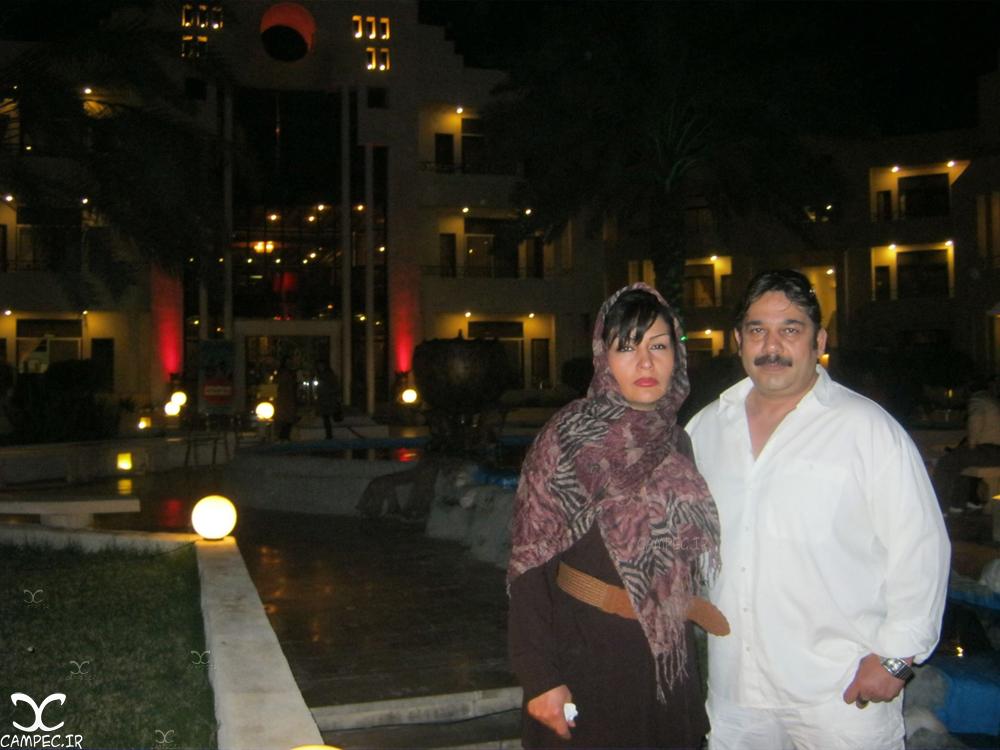 داریوش سلیمی با همسرش